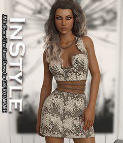InStyle - JMR dForce Tina Short Dress for G8F