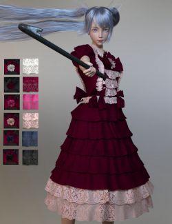 dForce Princess Dress for Genesis 8 Female(s)