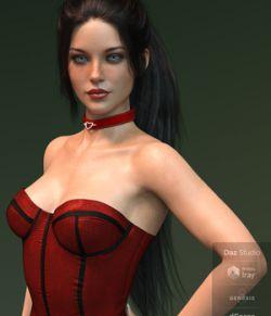 X-Fashion Sugar Corset for Genesis 8 Female(s)