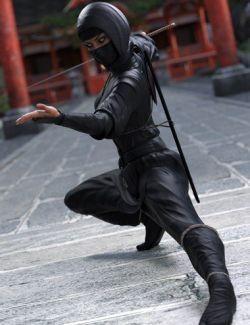 dForce Ninjitsu Outfit for Genesis 8 Female(s)