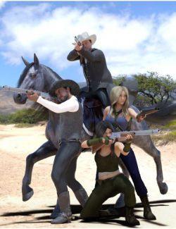 DA Wild West Poses for Genesis 8