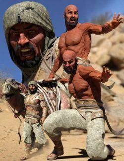 Bedu Desert Warrior HD Character for Genesis 8 Male