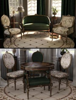 Reupholstered for Vintage Furniture Iray