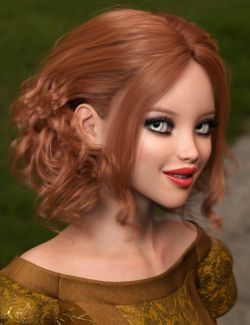 Bendine Hair for Genesis 3 and 8 Female(s)