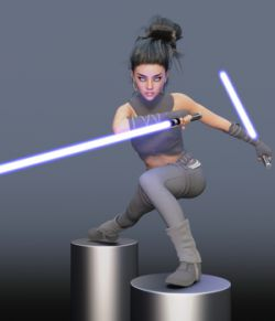 Aegis Sword: Dueling Poses I for Genesis 3 and 8 Females