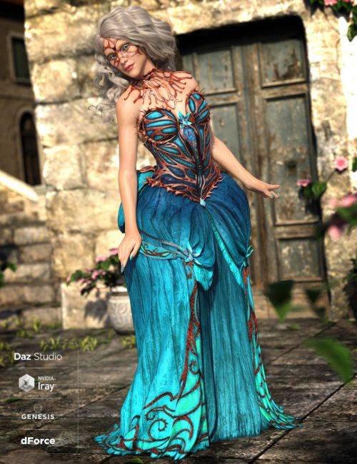 dForce Queen of Thorns Outfit for Genesis 8 Female