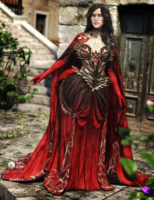 dForce Queen of Thorns Outfit Addon for Genesis 8 Female