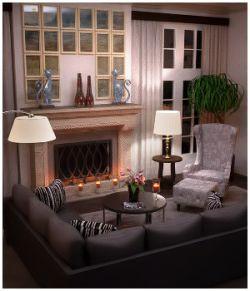 Modern Interiors - Living Room 1