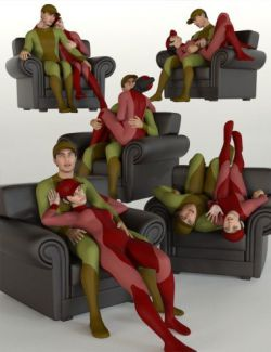 Armchair Poses and Prop for Genesis 8