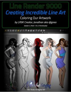 Creating Incredible Line Art with Line Render 9000 : Coloring Our Artwork