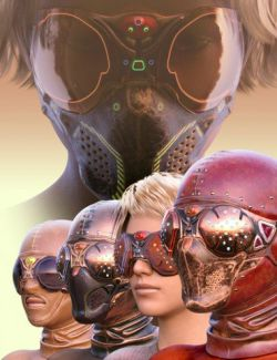 COG SciFi Goggles And Mask Steampunk Texture Pack