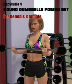 Dumbbell workout poses