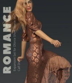 Romance for Short Sleeve Mid Calf Dress G8F