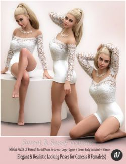 iV Sweet & Sassy Vol. 6 Pose Collection for Genesis 8 Female(s)