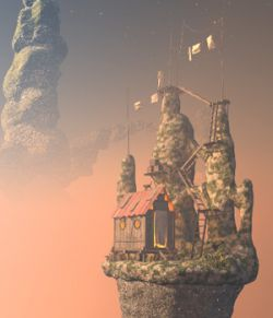 Inhabited island for Daz Studio