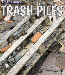 3D Scenery: Trash Piles