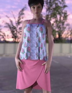 dForce Wrap Skirt Outfit for Genesis 8 Female(s)