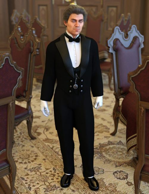 dForce Victorian Butler For Genesis 8 Male(s)