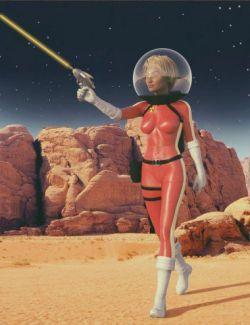 Sci-Fi Retro Space Suit for Genesis 8 Female(s)