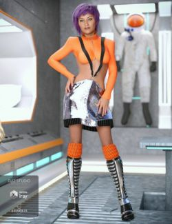Element Blue Outfit for Genesis 8 Female(s)