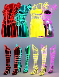 Neon Dream Outfit Textures