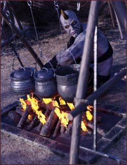 Primitive Medieval Campsite