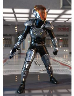 Sci-Fi Guard Outfit for Genesis 8 Male(s)