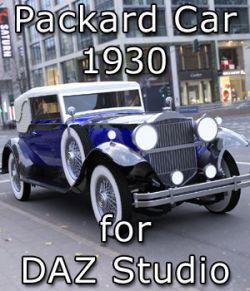 Packard Car 1930 for DAZ Studio