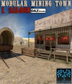 Modular Mining Town: 1. Saloon for Daz Studio