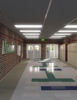 High School Hallway 2