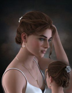 Ellya Classic Updo for Genesis 8 Female(s)
