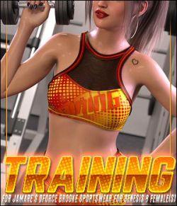 Training for JMR dForce Brooke Sportswear for Genesis 8 Female(s)