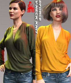 dForce V-Neck Knit for Genesis 8 Female(s)