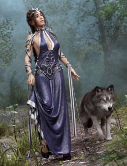 dForce Enchanted Queen Outfit for Genesis 8 Female(s)