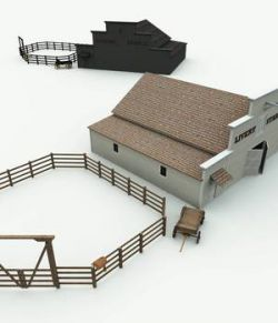 Old West Livery Stable for Poser