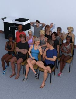 Simply Sitting Poses for Genesis 8