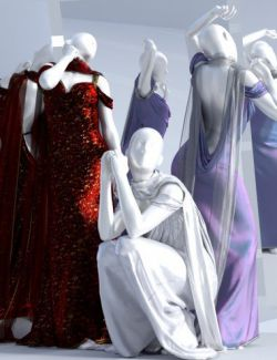 dForce Aquarius Gown for Genesis 3 and 8 Female(s)