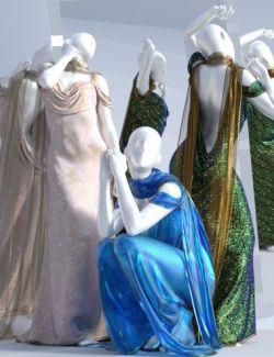 dForce Aquarius Gown Textures