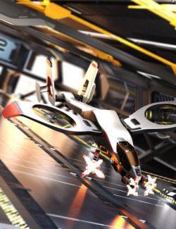 Futuristic Attack Helicopter