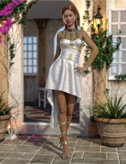 dForce Strappy High Low Outfit for Genesis 8 Female(s)