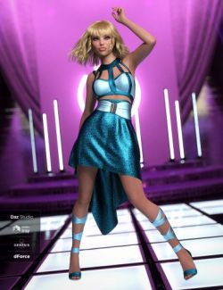dForce Strappy High Low Outfit Textures