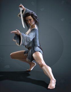 X-Fashion Warrior Kimono for Genesis 8 Female(s)