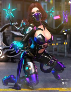 dForce Dr Dark Outfit for Genesis 8 Female(s)