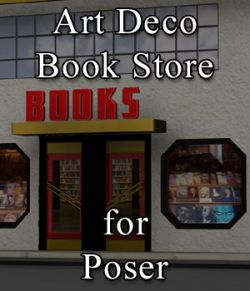 Art Deco Book Store for Poser