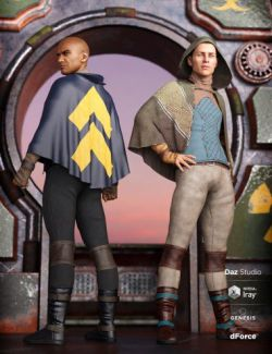 dForce Sky Rebel Outfit Textures