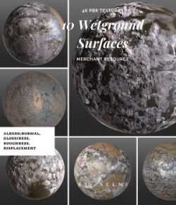 10 Wet Ground Surfaces PBR Textures
