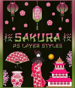 SAKURA PS Layer Styles
