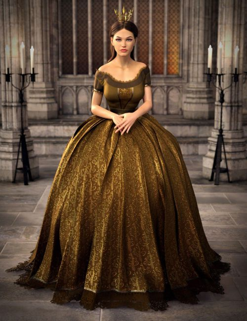 dForce Gown of Fantasy 2 for Genesis 8 Female(s)
