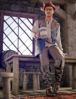 dForce Scallywag Outfit for Genesis 8 Male(s)