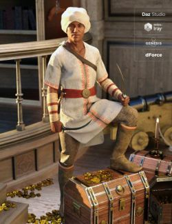 dForce Southern Seas Outfit for Genesis 8 Male(s)